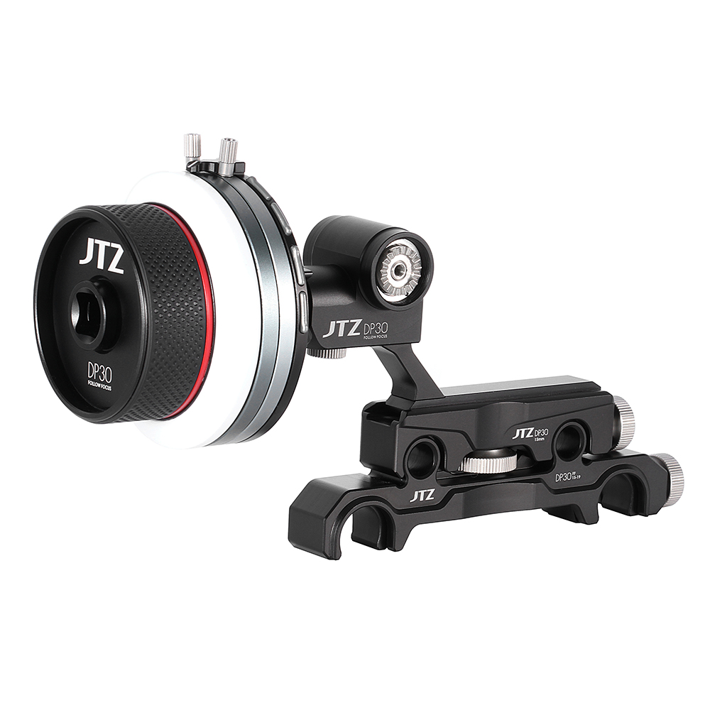 JTZ DP30 AB Stop Follow Focus 15mm/19mm KIT for A7R II A7S A7RM2 GH4 GH5 GH6S FS700 C100 C300 C500 a6500 a5000 BMCC ARRIfollow focusfollow focus kitfocus follow -