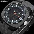 Men Sports Watch Digital Shock Dual Time LED Quartz Luminous Alarm BOAMIGO Wristwatches Outdoor Military Rubber Reloj Hombre
