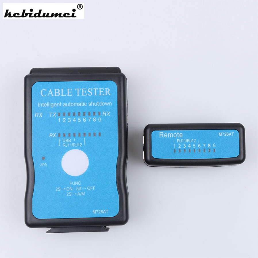 Kebidumei USB Cable Tester RJ45 RJ11 RJ12 LAN Network Cable Tester Network Ethernet CAT5 CAT5e Networking Tool Tracker Finder(China)
