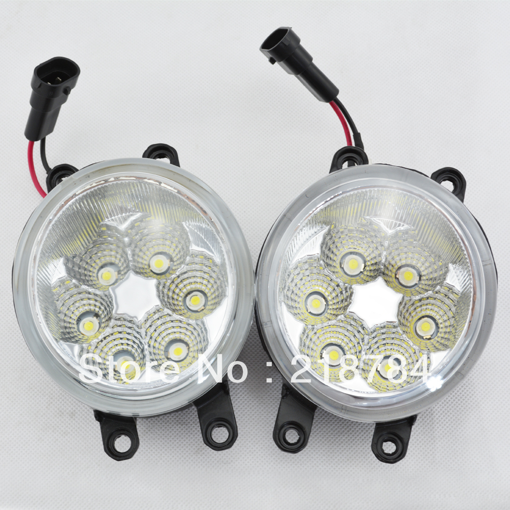 6500k white led day driving light front fog light bulb with cover for toyota highlander corolla