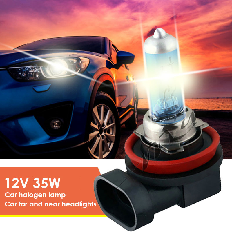 1PC Super <font><b>White</b></font> <font><b>Halogen</b></font> Bulb H7 <font><b>Halogen</b></font> Lamp 55w <font><b>H8</b></font> H11 Car Headlight 12V Auto Bulb 6500K 22W Quartz Glass Lamp image