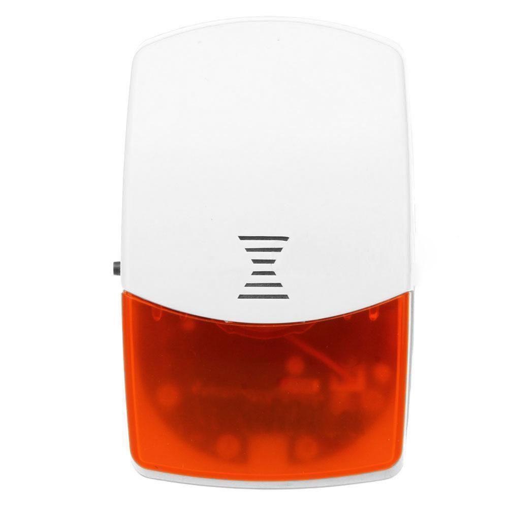Wireless Indoor Strobe Flash Siren Safe for GSM Burglar Home Alarm System wireless flash strobe outdoor indoor siren red light 125db 433mhz for our gsm pstn alarm system