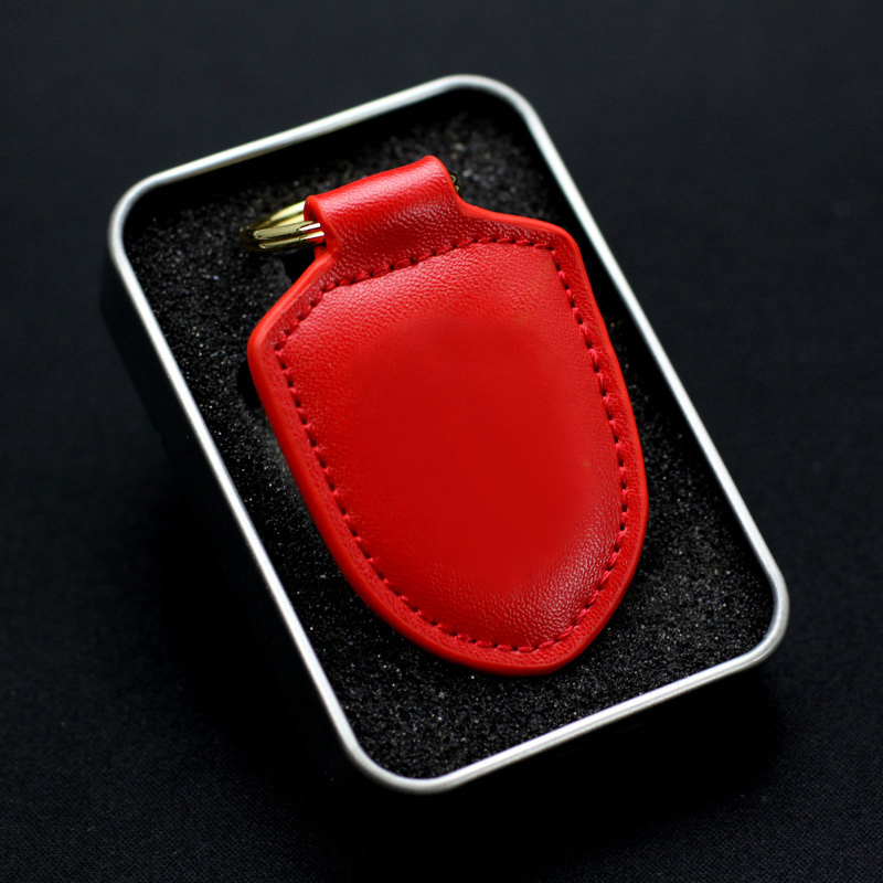 Genuine Leather Car Key wallet For Porsches Panamera 911 Fashion Macan Cayenne Key Chain Cover Key Case Cover Holder Ring