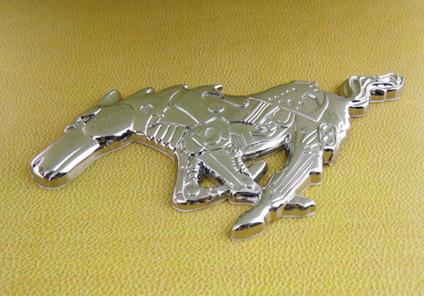 New Auto Car Chrome Running Horse pony for Mustang Badge Emblem sticker auto chrome for 2008 2013 genesis front rear wing emblem badge sticker