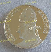 Medalla de monedas chapada en plata del Papa Pablo VI, 40mm, Obispo de Roma y líder de la Iglesia Católica Mundial.