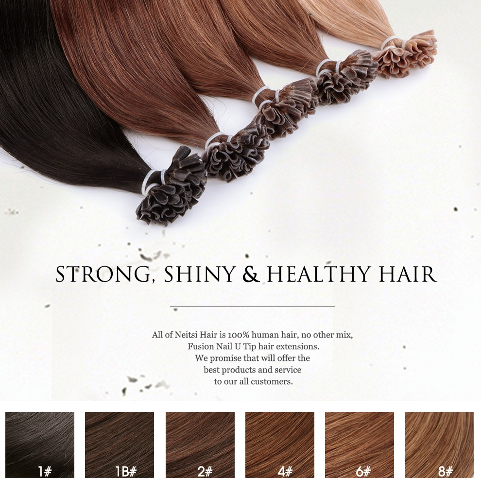buy keratin hair extensions 16 to 24inch Fusion Bonded Keratin Human Hair Extension Silky Straight Professional Salon Fusion bonding hair Colorful Hair Style