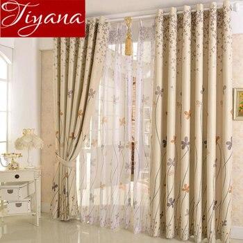 Ländlichen Vorhang Blatt Gras Dandelion Printed Voile Vorhänge Für  Wohnzimmer Fenster Schlafzimmer Tüll Vorhänge Tuch Vorhänge T U0026 206 #20