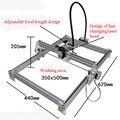 1 шт. 1000 мВт DIY настольный мини лазерный гравер гравировальный станок лазерный резак Etcher 35X50cm Регулируемая мощность лазера