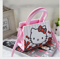 2016 Hot New girls bolsos bolsas de niño de dibujos animados Hello Kitty bolsa de hombro para las muchachas de LA PU bolsa de los niños regalos de cumpleaños