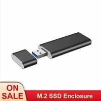 USB3.0 À M.2 NGFF SSD Boîtier Disque Dur Boîtier Externe Adaptateur UASP SuperSpeed 6Gbps pour 2230 2242 M.2 NGFF SSD