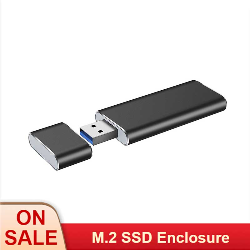 USB3.0 TO <font><b>M.2</b></font> NGFF <font><b>SSD</b></font> <font><b>Enclosure</b></font> Solid State Drive External Case Adapter UASP SuperSpeed 6Gbps for 2230 <font><b>2242</b></font> <font><b>M.2</b></font> NGFF <font><b>SSD</b></font> image