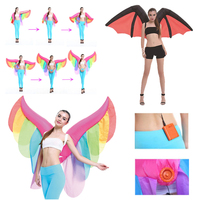 Inflatable Wing Butterfly Bat Costume Adult Makeup Halloween Party Stage