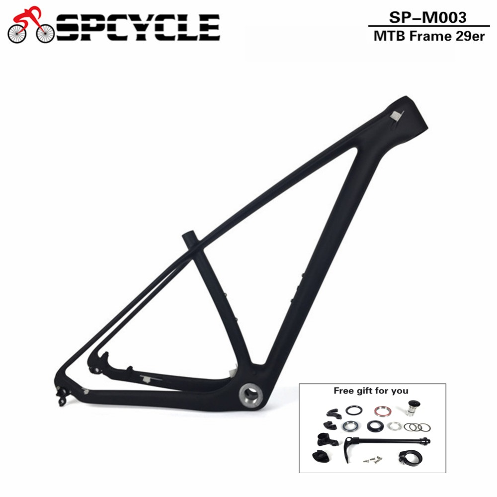 Spcycle 29er Full Carbon Mountain Bike Frame 27.5er T1000 Carbon MTB Bicycle Frame BSA 142*12mm or 135*9mm MTB Bicycle Frame