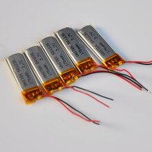 2-10 pcs 3.7 v bateria de polímero de íon de lítio Recarregável 170 mah 501235 LIPO celular li-ion para MP3 MP4 jogador bluetooth dispositivo