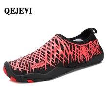 лучшая цена QEJEVI Aqua Shoes Hiking Sandal Breathable Summer Outdoor Sports Sneakers Swimming Footwear Wading Seaside Walking Men Women
