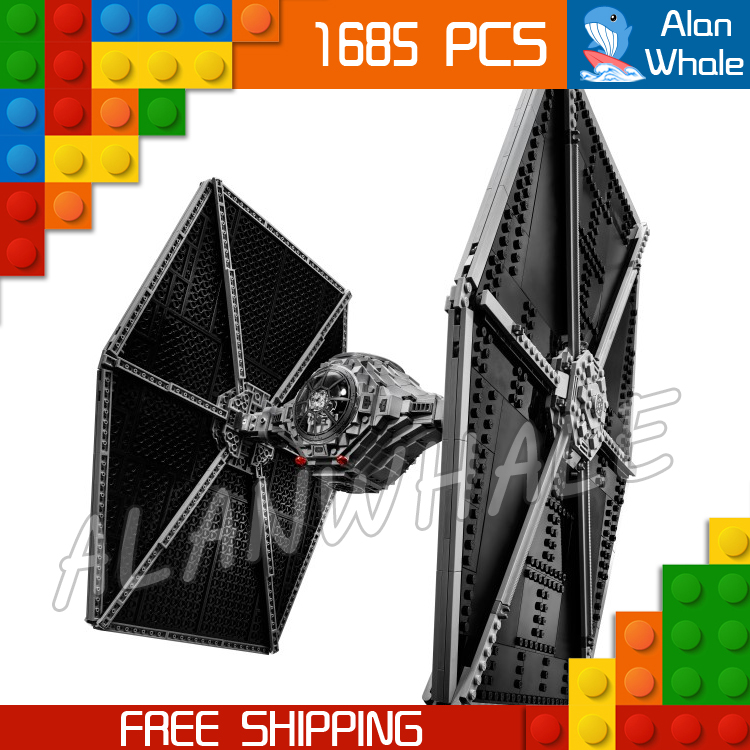 1685pcs New Space Wars Universe 05036 Tie Fighter Model Building Blocks Toys Kit blaster pistol Bricks Compatible with Lego 2015 high quality spaceship building blocks compatible with lego star war ship fighter scale model bricks toys christmas gift