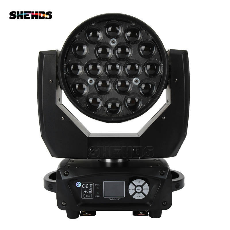 LED Beam+Wash 19x12W RGBW Zoom DMX 512 Stage Effect Lighting For Wedding Decoration Birthday Party Club DJ Stage LED Dance FloorLED Beam+Wash 19x12W RGBW Zoom DMX 512 Stage Effect Lighting For Wedding Decoration Birthday Party Club DJ Stage LED Dance Floor