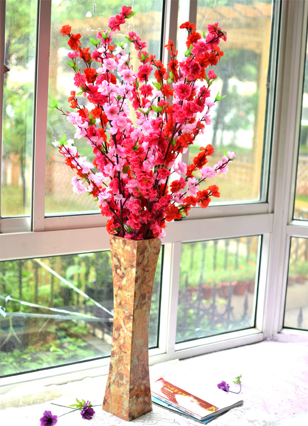 15 Pcs/Lot) Artificial Sakura Silk Flowers Cherry Blossom Wedding