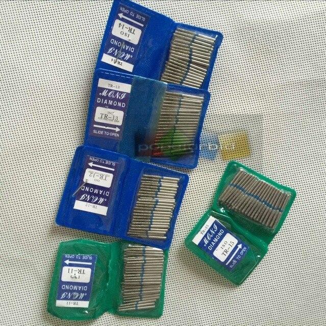 1 bolsa/50 piezas Serie TR de diamante dentales FG de alta velocidad fresas para el pulido de la serie TR