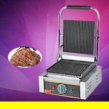 1 шт. Коммерческая Однослойная электрическая сковорода гриль/жаркое для мяса, стейка сковородка для бутербродов тостер