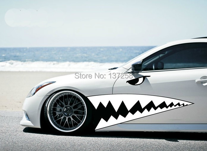 2014 new unique design dynamic shark mouth car stickers and decals for all car styling color can be customized on aliexpress com alibaba group