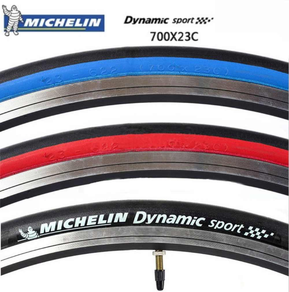 700C Bike Clincher Tyre Michelin Dynamic Sport Wire 700X23c Black//White