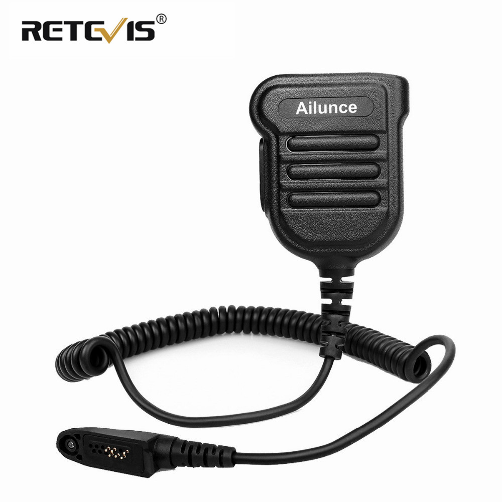 New Upgraded H103ML IP55 Speaker Microphone With 3.5mm Earphone Jack For Ailunce HD1/RT82/RT87/RT29/RT83/RT648/RT48/RT647 J9131K