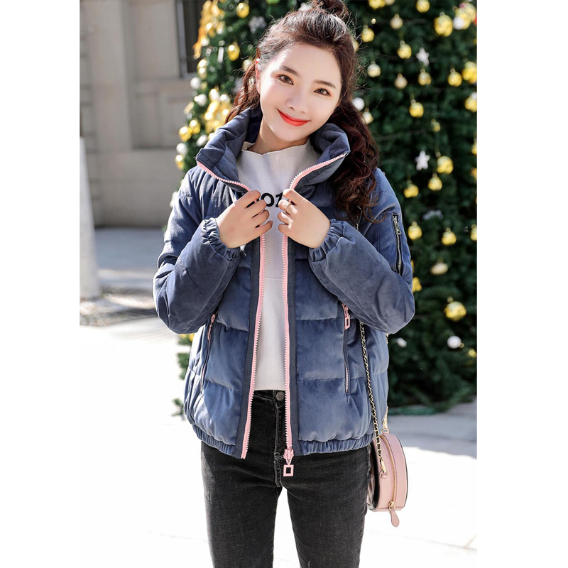 New 2018 Parka fashion Women Winter Coats Cotton Casual Fur Hooded Jackets Ladies Warm Winter Parkas Female Overcoat Women Coat