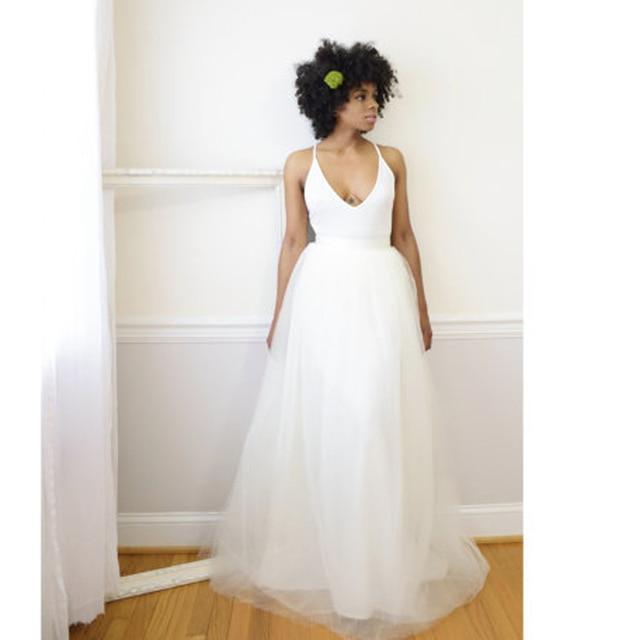 High Quality Ivory Tulle Maxi Skirt Adult Tutu Long Tulle Skirt Wedding  Skirt Bridesmaid Maxi Tutu Custom Made Faldas Saia Jupe 7a2d7924d628