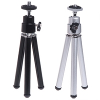 OOTDTY Super Mini Laser Level Tripod for 1/4 Adapter Laser Holder Metal Aluminum Tripod Electrical Equipment & Supplies