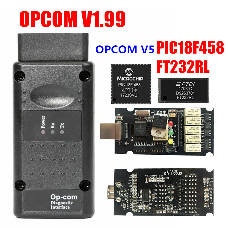 2019 OPCOM Firmware V1.59 V1.65 V1.70 V1.78 V1.95 V1.99 PIC18F458+FTDI Chip OP COM 1.99 Newest SW 2014 Op-com For Opel