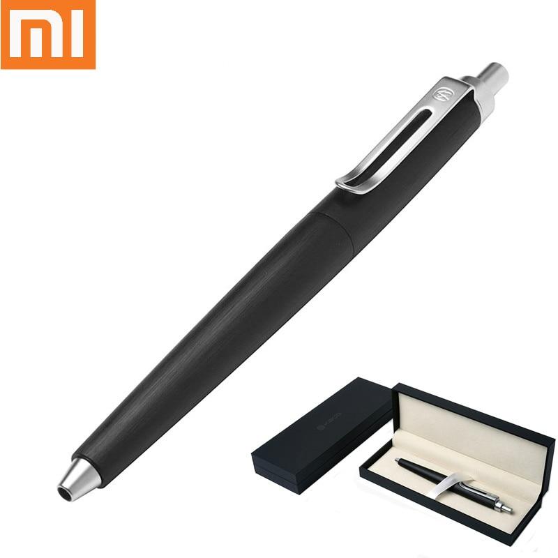 Xiaomi MijiaKACO ANGLE Series Matte Black and Silver Ballpoint Pen with Original Gift Case Luxury Metal