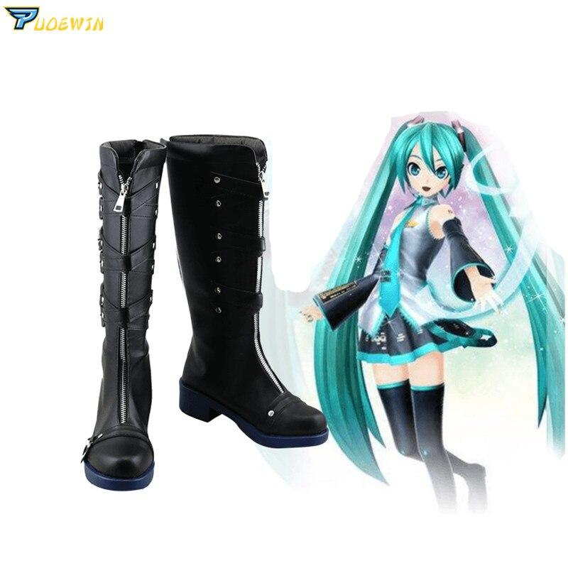 Anime Hatsune Miku projet Diva X Cosplay chaussures bottes