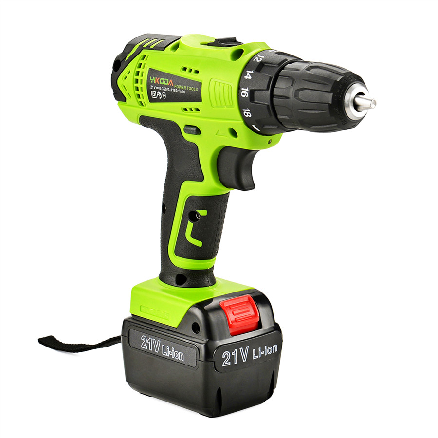 Image 2 - YIKODA 21V Electric Drill Lithium Battery DIY Mini Rechargeable Drill Double Speed Cordless Drill Household Power Tools-in Electric Drills from Tools on