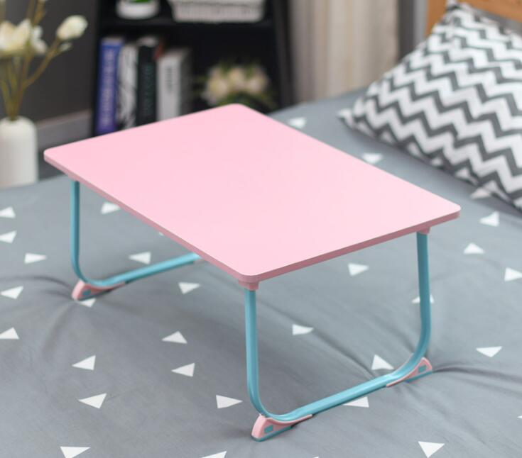Folding Movable Laptop Desk Portable Computer Desk Lazy Desk Small Table Use On Bed Simple Design 40x60cm