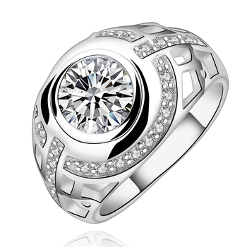 Big round crystal rings engagement wedding jewelry for women men thumb ring.jpg 350x350
