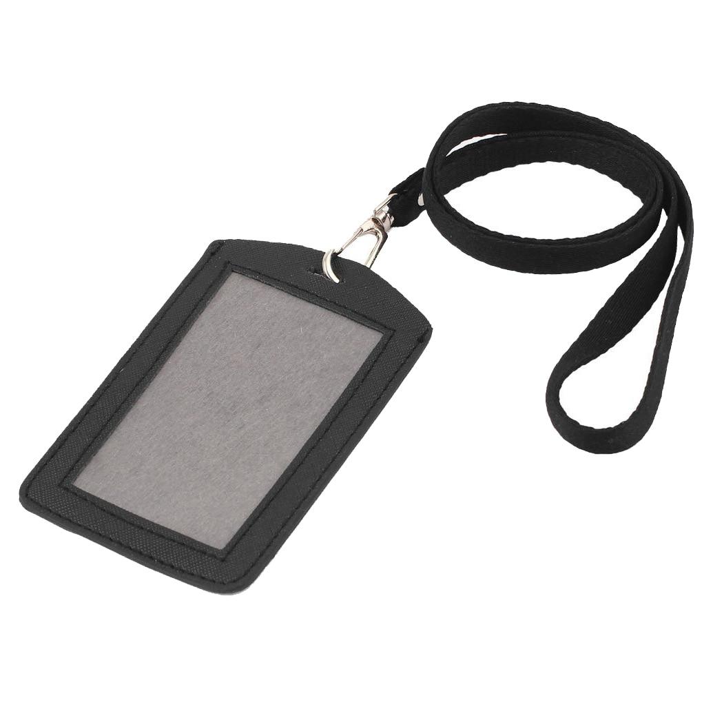 Office, School Badge Strap Black Vertical Neck