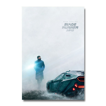Плакат Гобелен Бегущий по лезвию 2049 Материал Шелк