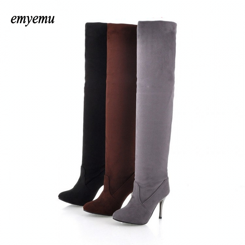 Big size riding equestrian boots fashion platform over the knee high heels boots for women shoes Eur size34-43 prova perfetto yellow women mid calf boots fashion rivets studded riding boots lace up flat shoes woman platform botas militares