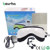 Beurha Electric DC Vibration Eye Massager Machine Music Magnetic Air Pressure Infrared Heating Massage Glasses Eye