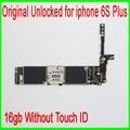 16 gb para iphone 6 s plus motherboard sem touch id, 100% original desbloqueado & boa trabalhando para iphone 6 s plus mainboard, freeship