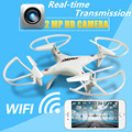 RC Drone Con Cámara de 2MP HD WIFI Helicóptero FPV Quadcopter Juguetes de Control Remoto Aviones de Cuatro ejes de Transmisión En Tiempo Real Para niños