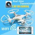 Zangão RC Com Câmera HD WI-FI de 2MP Quadcopter Helicóptero FPV Brinquedos de Controle Remoto de Quatro-Aeronaves eixo de Transmissão Em Tempo Real Para crianças