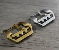 Klassische Edelstahl Schließe  22MM 24MM 26MM Versilberung/Messing Farbe Verschluss  Retro Stil Verschluss  Schnelle Lieferung-in Uhrenbänder aus Uhren bei