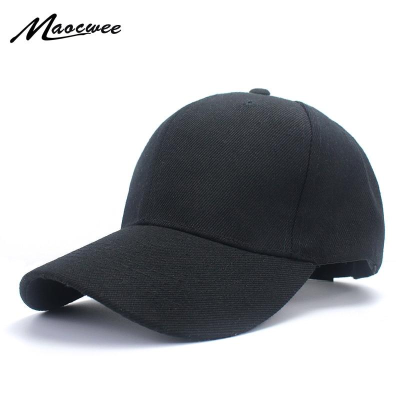 59a9f25a3 Plain Baseball Cap women men snapback caps Classic Polo Style hat ...