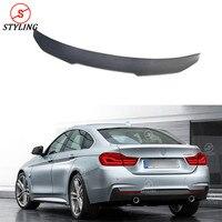 Для BMW F36 карбоновый спойлер PSM Стиль седан 4 серии F36 420i 428i 435i углеродного волокна задний спойлер задний Багажник крыло укладки на 2014