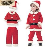 Hot Sale 3 Pcs Christmas Set 2017 Child Sets Baby Boy Girl Autumn Winter Clothing Long