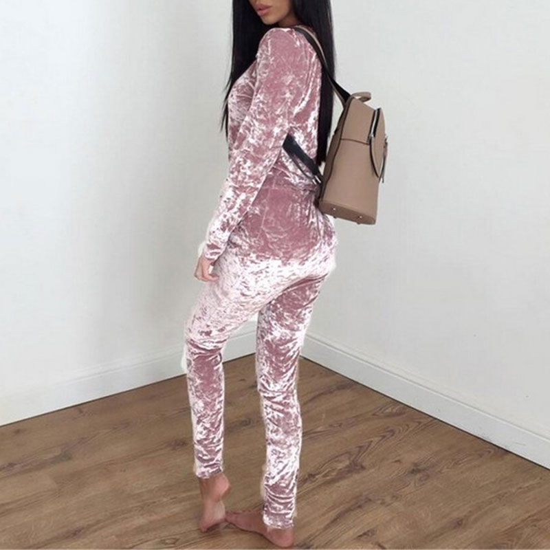 Autumn Velvet Tracksuits Women Set Suits Winter Two Piece Track Suit Set Women Warm Sweatshirt 2 Piece Set Ladies Pant Suit