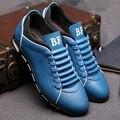 Новинка мужская свободного покроя обувь весна осень кожа дышащий обуви для мужчин кружева-up досуг мужчины обувь EPP155