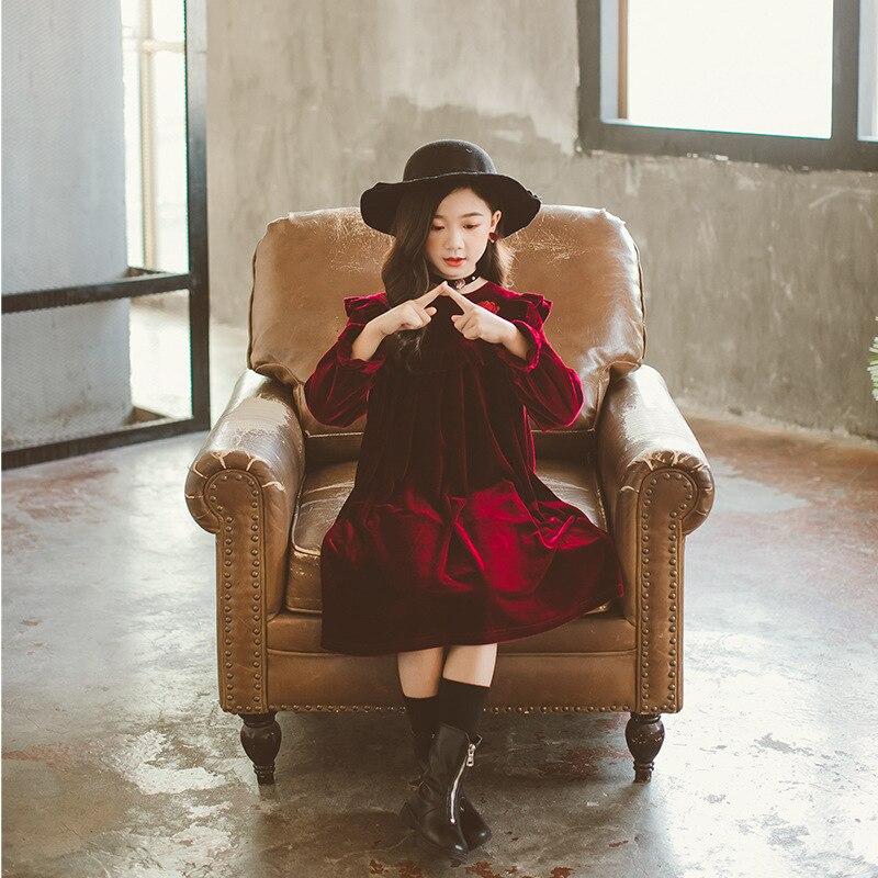 Style Palace qualité grandes filles printemps automne robes adolescent enfants robe vêtements pour enfants